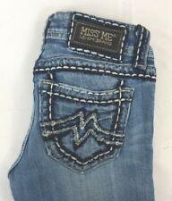 Miss Me Women's Sunny Boot Cut Denim Jeans w Big Stitch Pockets 25 x 32