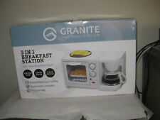 Granite 3-in-1 Breakfast Station NEW Toaster Oven Coffee Maker Griddle