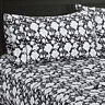 Agnes 300 Thread Count Floral Sheets,100% Cotton Printed Fitted & Flat Sheet Set