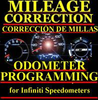 Infiniti Speedometer Instrument Gauge Cluster Mileage Odometer PROGRAMMING