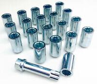 alloy wheel Tuner slim nuts lug bolts + Hex Key M12x1.5 - M12, Taper. Ford x 20