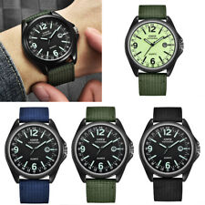 Luxury Men's Military Quartz Army Watches Black Dial Date Sport Wrist Watch
