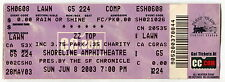 2003 Complete Unused Concert Ticket: Zz Top