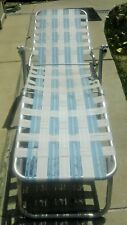 Vintage Aluminum Tube Chaise Lounge Lawn Chair, Needs Webbing Replaced