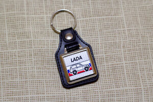 Lada Niva Cossack 4x4 Keyring - VAZ-2121 Taiga Leatherette and Chrome Keytag