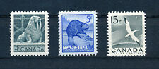 CANADA 1954 NATIONAL WILD LIFE WEEK SG472/474 BLOCKS OF 4 MNH
