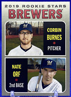 2019 Topps Heritage ROOKIE Stars Corbin Burnes - Nate Orf  RC #88 - Brewers🔥📈