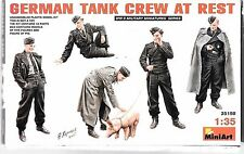 MiniArt WWII German Tank Crew at Rest Figures (5 plus pig) in 1/35 198 ST