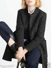 ZARA SIZE M L 40 WOLLE MANTEL JACKE WOLLMANTEL JACKE GREY WOOL COAT JACKET