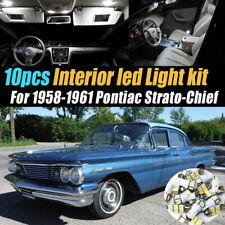 10Pc White Car Interior LED Light Bulb Kit for 1958-1961 Pontiac Strato-Chief