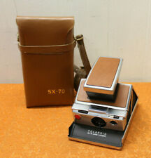 POLAROID SX-70 Land Camera Instant chrome and leatheretteLeather Carrying Case