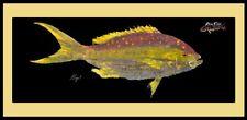 Realfish Gyotaku Series Yellowtail Snapper Fish Mat Floor Mat Doormat 18x40