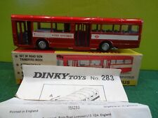 DINKY TOYS 283 SINGLE DECKER BUS IN METALLIC RED RARE