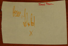 JOHN PEEL AUTHENTIC HAND SIGNED AUTOGRAPH BOOK PAGE CIRCA 1969