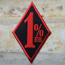 Ecusson Patch Biker 1% Sons of Anarchy motards rebel noir et rouge