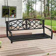 Patio Porch Swing Outdoor Hanging Bench Swing Chair with Chains Yard Park Deck
