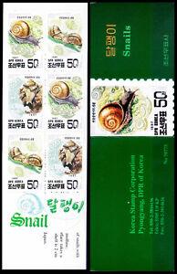 Asian Bush Snail, Marine Life, Korea 1997 Booklet