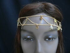 NEW WOMEN GOLD MINI METAL SKULLS TWO ROWS HEAD CHAIN CASUAL FASHION JEWELRY