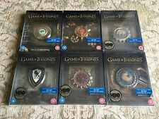 Game of Thrones UK Steelbook Set 1-6 Season 1 2 3 4 5 6 Sealed Dolby Ultra Rare