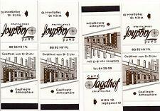 4 Streichholzbriefchen Cafe Jagdhof Wien 10    25/9/14