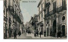 Anni '30 Galatina Via Garibaldi Guller Lecce destinazione Pisa FP B/N VG ANIM