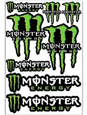 8 Monster Green Motorcycle Auto Car Bike Skate Stickers Vinyl Sport MTB D 73