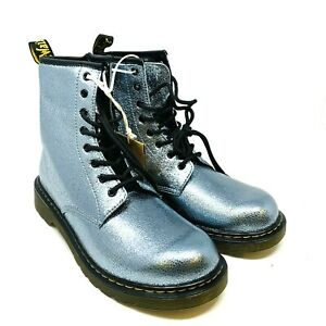New DR. MARTENS 1460 Crinkle Metallic Boot Teal US 5 Kids NWT