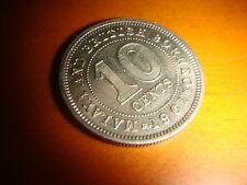 Malaya & British Borneo 1961, 10 Cents QE 2, Copper Nickel, UNC