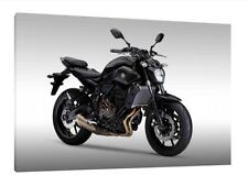 Yamaha MT-07 - 30x20 Inch Canvas Framed Picture Print Poster