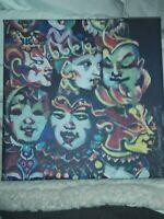 Original Sin Painting on Canvas by Julie Kahn Valentine Mardi Gras Modern giclee