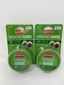 O'Keeffe's Working Hands Hand Cream Moisturizer 3.4 Ounce Jar 2-Pack Sealed