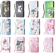 Animals Pattern  Flip Wallet Case Phone Cover for iPhone 11 Pro Max 8 6 7 Plus X