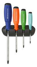 PB Swiss Tools PB 8242.RB Screwdriver Set Phillips with Wall Rack SwissGrip