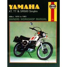 Haynes Repair Manual Yamaha Xt Tt & Sr 500 Singles For Yamaha Sr 500 G Cast