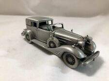 1/43 scale Pewter model Danbury Mint 1933 Cadillac Town Car V-16