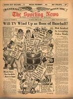 Sporting News Baseball newspaper 4/4/1964,Sandy Koufax, Frank Howard, Dodgers~VG