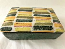 Vintage Mid Century Modern Raymor Covered Box Italy Ceramic Pottery Bitossi
