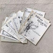Vintage x 9 Piano Sheet Music Manuscript By H Freeman & Co Popular Classic