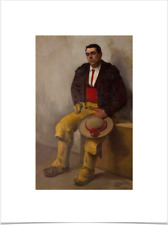 DIEGO RIVERA EL PICADOR BIG BORDERS LIMITED EDITION ART PRINT 18X24 brown yellow