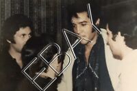 Elvis Presley - Original Candid Photo- Backstage Vegas 1969 w/ French fans 098