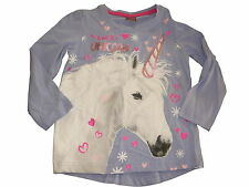 NEU Kiki & Koko tolles Langarm Shirt, zart lila Gr. 92 mit Einhorn Motiv !!