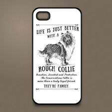 Rough Collie Lassie cane Telefono Custodia Cover Apple iPhone Samsung ~ personalizzato