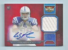 COBY FLEENER 2012 TRIPLE THREADS RC JERSEY AUTOGRAPH AUTO /99 COLTS