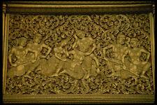 584051 Temple Wall Engraving Laos A4 Photo Print