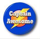 """Capitaine Awesome - 25mm 1 """" Button Badge - Mignon Nouveauté"""
