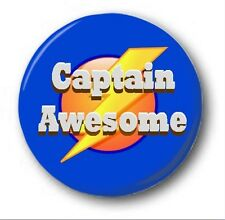 """CAPTAIN AWESOME  - 25mm 1"""" Button Badge - Cute Novelty"""