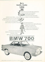 1960 BMW 700 Microcar Vintage Classic Advertisement Ad - PE23