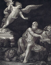 SAINT JEROME and THE ANGEL of Judgement (Domenichino) - National Gallery 1836