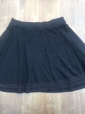 Superdry Black Pull-on Skater Style Skirt~Stretchy Waistband For Easy Fit ~Large