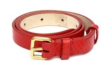 Marc By Marc Jacobs Women's Cherry Red 100% Leather Skinny Belt Sz XS/S 3507